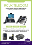 RCUK Telecom offers Landline, Broadband and Hosted Services to Business and Corporate clients across the UK
