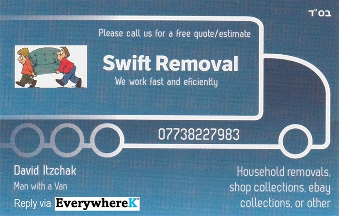 Please call for a quick and easy removal - cheap and cheerful ;)